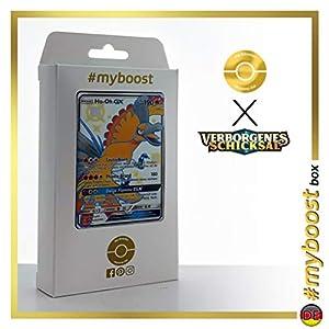 Ho-Oh-GX SV50/SV94 Variocolor - #myboost X Sonne & Mond 11.5 Verborgenes Schicksal - Box de 10 cartas Pokémon Alemán