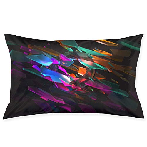 Pillow Protector Colorful Gamut 3D Pattern Standard Size 20x30 Inches Zippered Pillowcase Pillow Cover (Blue Ivy Halloween)