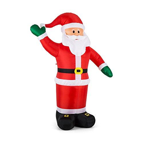 Oneconcept mr. klaus • babbo natale gonfiabile • decorazione natalizia • illuminazione natalizia • 240 cm • illuminazione led • sistema gonfiaggio silenzioso • ip44 • colorato