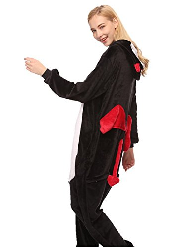 URVIP Neu Unisex Festliche Anzug Flanell Pyjamas Trickfilm Jumpsuit Tier Cartoon Fasching Halloween Kostüm Sleepsuit Party Cosplay Pyjama Schlafanzug Teufel X-Large