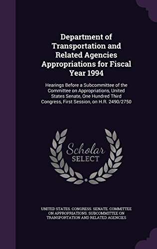 department-of-transportation-and-related-agencies-appropriations-for-fiscal-year-1994-hearings-befor