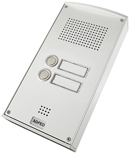 Preisvergleich Produktbild AGFEO Premium TFE 2 - Türsprechstelle mit 2 Klingeltaster - Weiß, 6101142