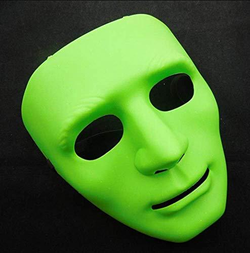 Kostüm Tanz Green - FENGZ Halloween Mask Masquerade Dress Up Maske Junge Hip-Hop Tanz Requisiten Ball Party Kostüm Masken Cosplay Scary Solid Full Face Für Erwachsene,Green