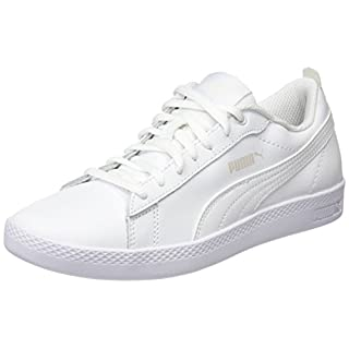 Puma Damen Smash WNS V2 L Sneaker, Weiß (Puma White-Puma White), 39 EU