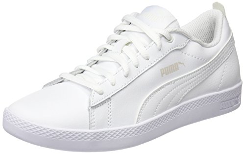 Puma Smash Wns v2 L, Scarpe da Ginnastica Basse Donna, Bianco White, 42.5 EU