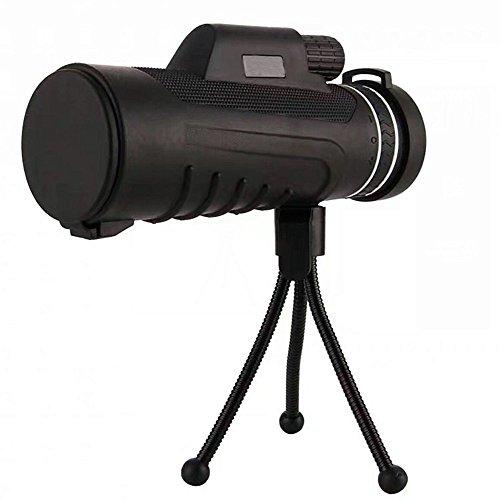 Asdflina Monocular Teleskop High Power Low Light Level Nachtsicht Portable mit Ständer Vogel Spiegel für Den Außenbereich