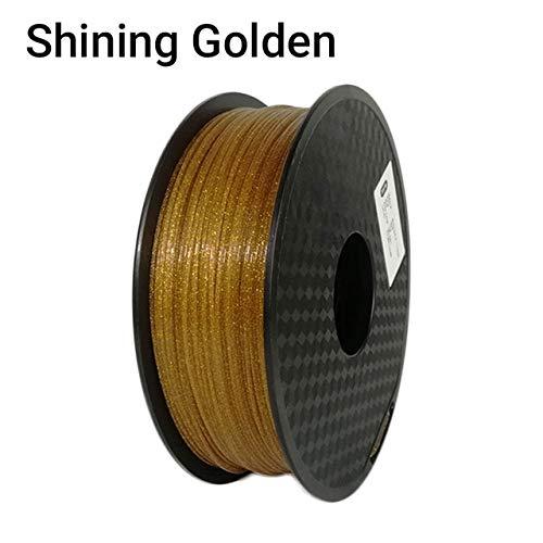 Filamento de bolígrafo de impresión 3D, Impresora 3D Fayella Filamento PLA brillante 1KG (2.2lbs) 1.75 mm +/- 0.03 mm, Brillo brillante Negro Azul Rosa Dorado Plata Color, Dorado