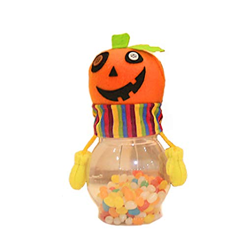Exing Halloween Candy Bags Süßigkeitstasche Candy Totes Bag Kostüm Zubehör Totes Bag, Kunststoff, Tuch,22x10x11cm (A # Kürbis)