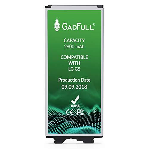 GadFull Batteria per LG G5 | di costruzione anno 2018 | Corrisponde alla batteria a ioni al litio originale BL-42D1F | del modello LG G5 | G5 Dual Sim | G5 SE | G5 Lite | H850 | H860 | H840