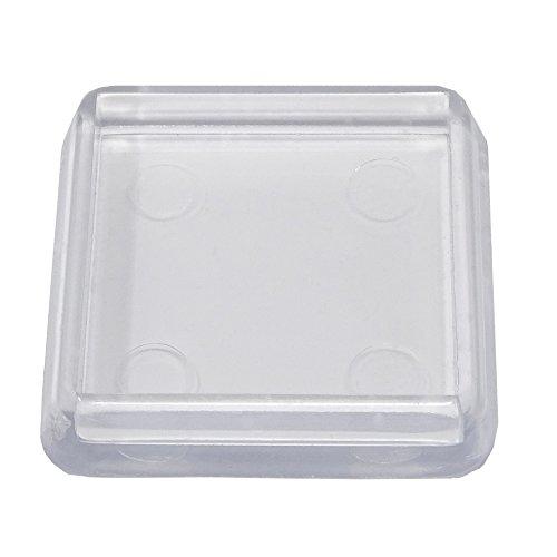 Preisvergleich Produktbild 4 Stück Möbeluntersetzer quadratisch Ø 30x30 mm innen - glasklar - Untersetzer - Möbelgleiter