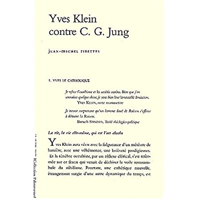 Yves Klein Contre C.G.Jung