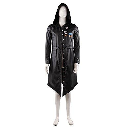 Spiel PUBG Langer Mantel PU-Leder Trenchcoat Cosplay Kostüm Herren Jacke Erwachsene Windjacke Verrücktes Kleid Kleidung