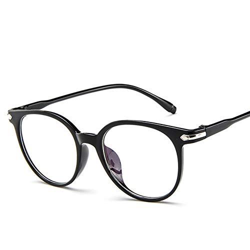 Geleefarbene Brille, Retro Unisex Transparen Runde Metallrahmen Klare Linse Sonnenbrille Vintage Geek Brillen Lesebrille, Brillenlose Brillen, Klassische Vogue Optical Eyewear
