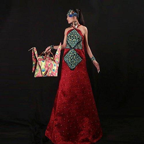 pliable mille origami grues type sac à main / bambou poignée sac / sacoche / sac à bandoulière/Sacs portés épaule/Sacs portés main pattern 2 type rose