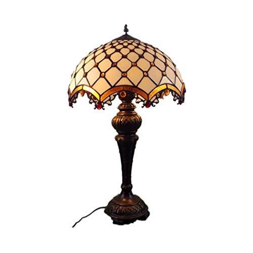 Tiffany Stil Tischlampe Schreibtisch Neben Lampen 16 Zoll Kreative Studie Led Schreibtischlampe Retro Mode Dekorative Tischlampe for Wohnzimmer Schlafzimmer (Color : Multi-colored, Size : 16inch) -