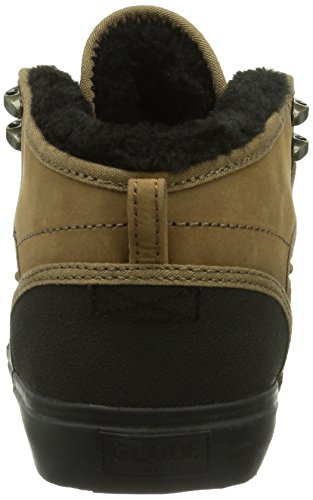 Globe Motley Mid Fur, Chaussures de skateboard homme Marron - Braun (golden brown/black fur 17252)