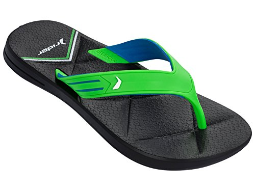 Rider Easy Thong AD Flip Flop Black/Green/Blue