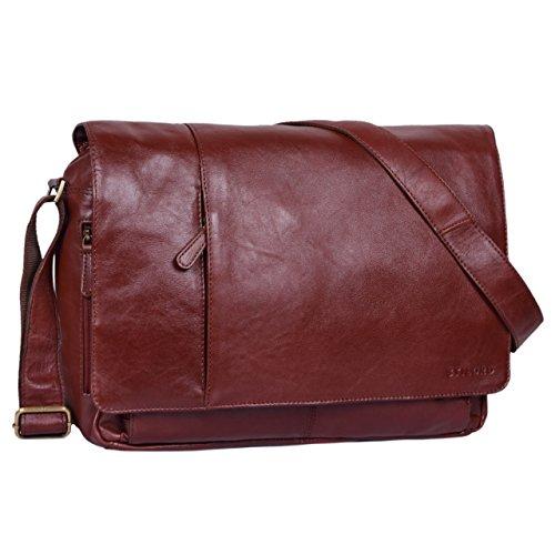 STILORD \'Elias\' Ledertasche Herren Umhängetasche Unitasche Laptoptasche 15.6 Zoll Aktentasche Bürotasche Büffel Leder