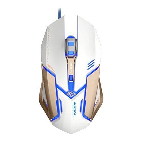 Preisvergleich Produktbild Granvela® M639 programmierbare 4000 DPI High Precision USB verkabelte Gaming-Maus,  6 Tasten,  mit 5 farbigen LED-Leuchten in schwarz