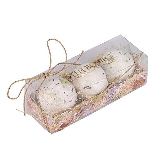3PCS Lavandes Parfume Bombes de Bain Boules Effervescentes a Huile pour Baignoire (3PCS)