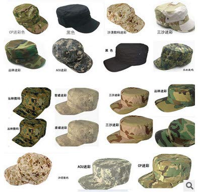 INFIKNIGHT INF 11colors Military Inspired Cap. Camo Solid Army GI Washed Military Cadet Patrol Castro Caps - Camo Gi Cap