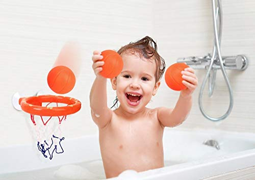 Voiks Fun Bath Basketball Hoop & Balls Playset for Little Baby Bath...
