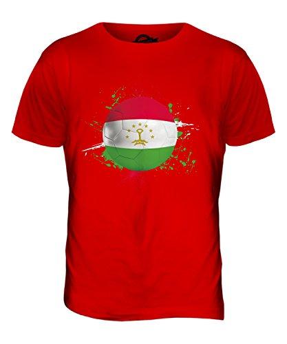 CandyMix Tadschikistan Fußball Herren T Shirt Rot