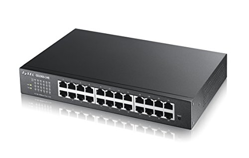 Zyxel 24-Port Gigabit Web / Smart Managed Switch - Design ohne Lüfter fanless [GS1900-24E]