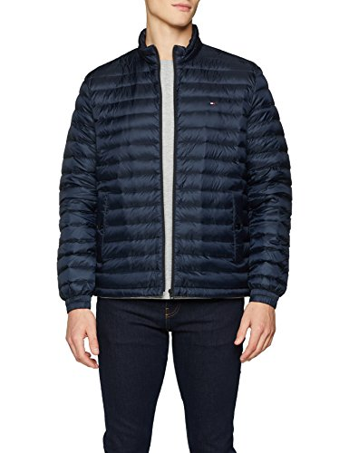 Tommy Hilfiger Herren Bomberjacke Core LW Packable Bomber, Blau (Sky Captain 403), X-Large