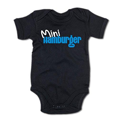 G-graphics Mini Hamburger Baby-Body 250.0064 (3-6 Monate, schwarz)