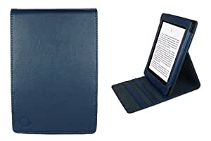 CaseGuru Leather Case/Cover/Luxury Folio Book Holder with Stand for New Amazon Kindle Paperwhite - Blue