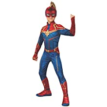 Rubie's Official Captain Marvel Hero Suit, Childs Costume, Large Age 8-10 Years