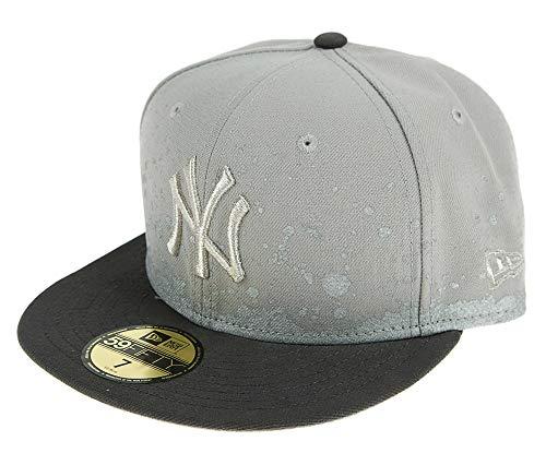 New Era Herren Caps / Fitted Cap FL Pannel Splatter New York Yankees 59Fifty grau 7 1/4 - 57,7cm