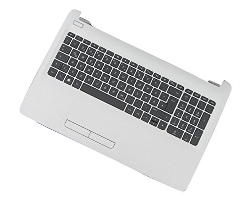 HP 855023-051 Gehäuse-Unterteil+Tastatur Notebook-Ersatzteil - Notebook-Ersatzteile (Gehäuse-Unterteil+Tastatur, HP, Schwarz, Weiß, Pavilion 15-ay, Französisch)