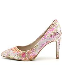 Fuxitoggo Bombas Vintage Mujeres Estampado de Flores de tacón Alto en los  Zapatos (Color   5c41be069390