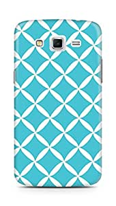 Amez designer printed 3d premium high quality back case cover for Samsung Galaxy Grand 2 G7102 (blue white pattern)