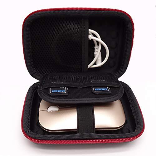 HSKB Eva Hard Case Handtasche, Portable Handheld Bag Wasserdichter für Festplatten/Kabel/Telefon/USB/SD