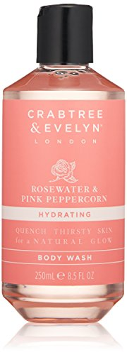 Crabtree & Evelyn Rosewater & Pink Peppercorn Body Wash Duschgel 250ml (& Rosewater Crabtree Evelyn)