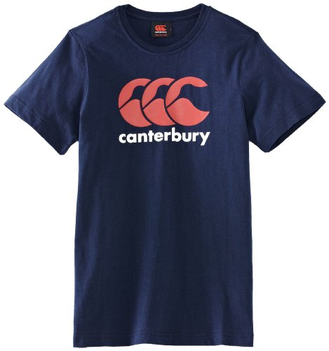Canterbury Jungen Bekleidung Logo T Shirt, Navy, 81.5-86 cm