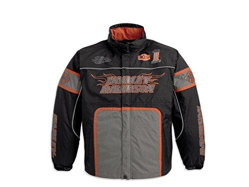 Harley-Davidson Men's Screamin Eagle Incinerator Nylon Regenkombi (Jacke + Hose) (Harley Eagle Davidson Mens)