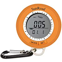 CHSEEA 6 In 1 Digital Altimeter Barometer Compass Walking Pedometer Weather Forecast Clock For Outdoor Sport #1