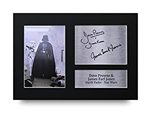 Dave Prowse et James Earl Jones Signed A4autographe imprimé Star Wars Dark Vador Photo Présentation–Idée cadeau