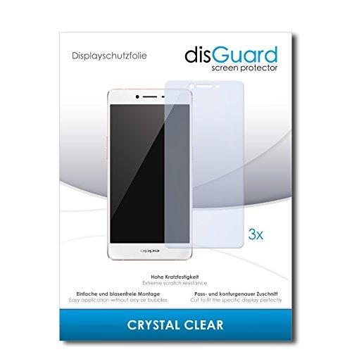 disGuard® Bildschirmschutzfolie [Crystal Clear] kompatibel mit Oppo R7s [3 Stück] Kristallklar, Transparent, Unsichtbar, Extrem Kratzfest, Anti-Fingerabdruck - Panzerglas Folie, Schutzfolie