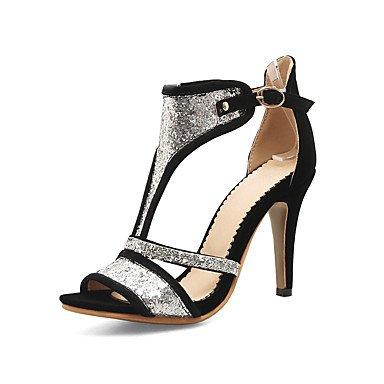 NVXZD Da donna-Stivaletti-Ufficio e lavoro Formale Serata e festa-Club Shoes-A stiletto-Sintetico-Nero Rosso Blu Nero