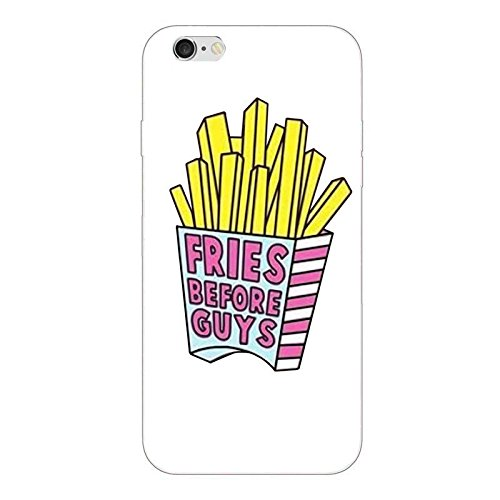 Custodia iPhone 6 6S Cover Case Sleeve Silicone TPU Bumper transparente 4.7 Fries before Guys