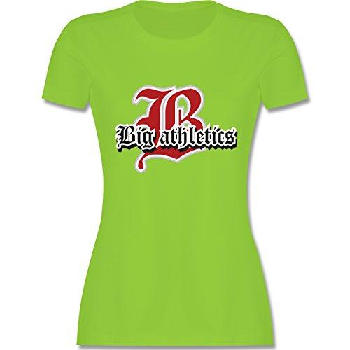 Basketball - Big Athletics - tailliertes Premium T-Shirt mit Rundhalsausschnitt für Damen Hellgrün