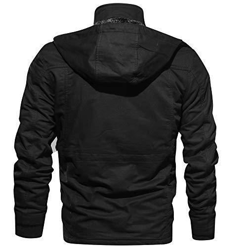 DAY8 Manteau Homme Hiver Chaud Épais Vêtement Homme Pas Cher a la Mode Pull Veste de Moto pour Hommes Blouson de Motard Zippe Homme Grande Taille Automne Trench Coat Cardigan Outwear