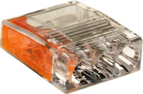 ViD C2073 Verbindungsklemmen/Steckklemmen Ø 0,5 - 2,5 mm² 3-polig orange 100 Stück