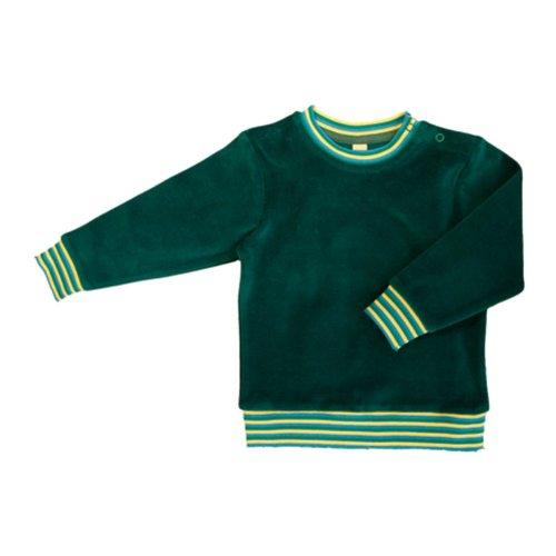 Leela Cotton Baby/Kinder Nicky-Sweatshirt Scandinavia 2237 aus reiner Bio Baumwolle, Irisch-Grün Gr. 98/104 (Pullover Irische)
