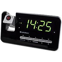 Radio-réveil Audiosonic CL-1492 – Double alarme – Radio FM – Projecteur